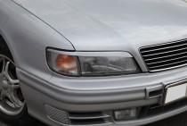 Верхние реснички на фары Nissan Maxima QX A32 (фото, ExpressTuni