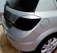 Задние реснички на стопы Opel Astra H (задние реснички Опель Астра H)