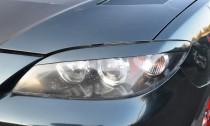 Реснички на фары Мазда 3 седан (установка накладок на фары Mazda