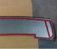 Накладка на задний бампер Шевроле Нива (защитная накладка бампера Chevrolet Niva)