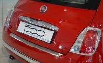 Накладка на задний бампер Фиат 500 (защитная накладка бампера Fiat 500)