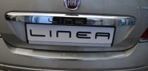 Накладка на задний бампер Фиат Линеа (защитная накладка бампера Fiat Linea FL)