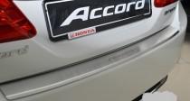 Накладка на задний бампер Хонда Аккорд 9 (защитная накладка бампера Honda Accord 9)