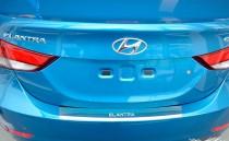 Накладка на задний бампер Хендай Элантра 5 (защитная накладка бампера Hyundai Elantra 5 MD)