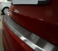 Накладка на задний бампер Киа Церато 3 (защитная накладка бампера Kia Cerato 3)