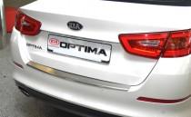 Накладка на задний бампер Киа Оптима 3 (защитная накладка бампера Kia Optima 3)
