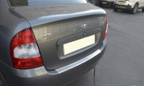 Накладка на задний бампер Lada Kalina (защитная накладка бампера Лада Калина седан)