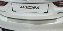 Накладка на задний бампер Мазда 6 GJ (защитная накладка бампера Mazda 6 GJ)