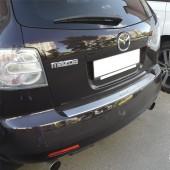 Накладка на задний бампер Мазда СХ-7 (защитная накладка бампера Mazda CX-7)