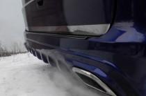 Накладка на задний бампер Мерседес Вито W639 (защитная накладка бампера Mercedes Vito W639)