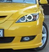 Реснички на фары Мазда 3 Bk Хэтчбек (передние накладки фар Mazda 3 Bk 5d)