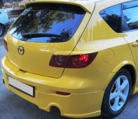 Реснички на задние фары Мазда 3 Хэтчбек (задние накладки на стопы Mazda 3 5d)