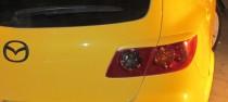 Тюниговые реснички на задние фары Мазда 3 хэтчбек