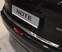 Накладка на задний бампер Ниссан Ноут 1 (защитная накладка бампера Nissan Note 1)