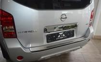Накладка на задний бампер Ниссан Патфайндер R51 (защитная накладка бампера Nissan Pathfinder R51)