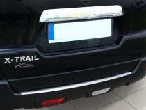 Накладка на задний бампер Ниссан Х-Трейл Т30 (защитная накладка бампера Nissan X-Trail T30)