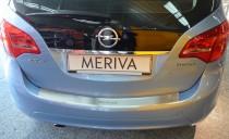 Накладка на задний бампер Опель Мерива В (защитная накладка бампера Opel Meriva B)