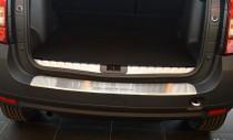 Накладка на задний бампер Рено Дастер (защитная накладка бампера Renault Duster)