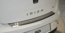 Накладка на задний бампер Сеат Ибица 4 5D (защитная накладка бампера Seat Ibiza 4 Hb)