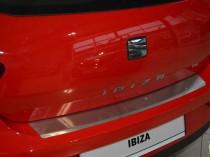 Накладка на задний бампер Seat Ibiza 3D (защитная накладка бампера Сеат Ибица 3D)