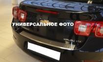 Накладка на задний бампер Сеат Толедо 4 (защитная накладка бампера Seat Toledo 4)
