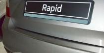 Накладка на задний бампер Шкода Рапид (защитная накладка бампера Skoda Rapid)