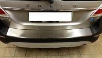 Накладка на задний бампер Вольво ХС70 (защитная накладка бампера Volvo XC70)