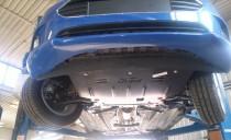 Защита двигателя Форд Фиеста 6 (защита картера Ford Fiesta ecoboost)