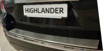 Накладка на задний бампер Тойота Хайлендер 2 (защитная накладка бампера Toyota Highlander 2)