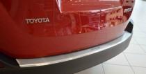 Накладка на задний бампер Тойота Рав 4 4 (защитная накладка бампера Toyota RAV4 4)