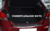 Накладка на задний бампер Фольксваген Гольф 7 универсал (защитная накладка бампера Volkswagen Golf 7 Variant)