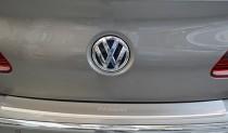 Накладка на задний бампер Фольксваген Пассат СС (защитная накладка бампера Volkswagen Passat CC)