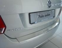 Накладка на задний бампер Фольксваген Поло 5 (защитная накладка бампера Volkswagen Polo 5)