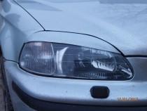 Купить реснички на фары Honda Civic 4 3d (тюнинг накладки на фар