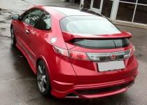 Установка спойлера Type R на Honda Civic 5d