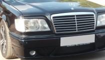 Реснички на фары Мерседес W124 (накладки передних фар Mercedes E124)