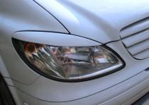 Реснички на фары Мерседес Вито 639 (накладки фар Mercedes Vito W639, передние)