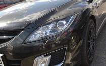 Реснички на фары Мазда 6 GH (накладки фар Mazda 6 GH, 2008-2012)