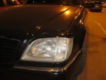 Реснички на фары Мерседес W140 купе (накладки фар Mercedes W140)