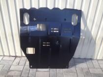Защита двигателя Митсубиси Лансер 10 под бампер (защита картера Mitsubishi Lancer 10 под бампер)