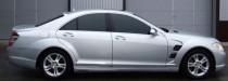 Аэродинамический спойлер на Mercedes W221 (накладка на багажник)