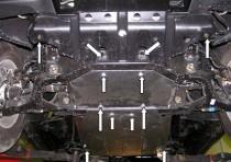 Защита двигателя Санг Енг Актион (защита картера SsаngYong Actyon)