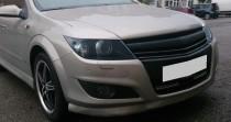 Реснички на фары Опель Астра Н (накладки фар Opel Astra H)