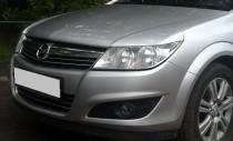 Накладки на передние фары Opel Astra H (Hatchback)