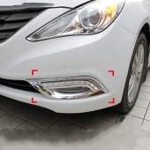 Дневные ходовые огни Hyundai Sonata YF Chrome (ДХО для Хендай Соната 6 Хром)