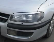 Реснички на фары Опель Омега Б (накладки фар Opel Omega B)