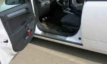 Накладки на пороги Опель Астра H (защитные накладки Opel Astra H 5D)
