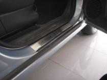 Накладки на пороги Опель Мерива А (защитные накладки Opel Meriva A)