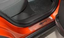 Накладки на пороги Опель Мокка (защитные накладки Opel Mokka)