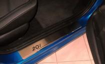 Накладки на пороги Пежо 207 (защитные накладки Peugeot 207)